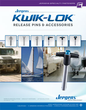 Jergens Kwik-Lok Pins, quick release pins, specialty fasteners